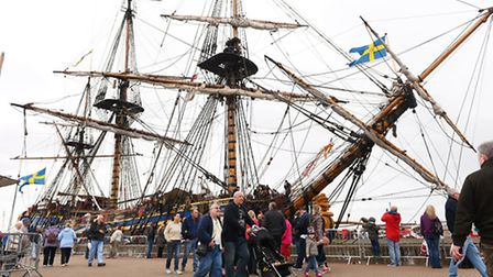 The 2015 Great Yarmouth Maritime Festival.The Swedish ship Gotheborg.Picture: James Bass