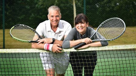 Tennis coaches Chris Hansford and Fiona Oag want more youngsters to join their Mini Tennis Club in C