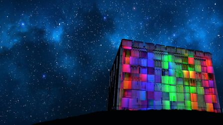 Norwich Castle lit up with illuminations at Christmas. Picture: SUBMITTED