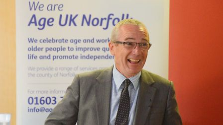 Professor Alistair Burns speaking at the Age UK Norfolk conference. Picture: Ian Burt