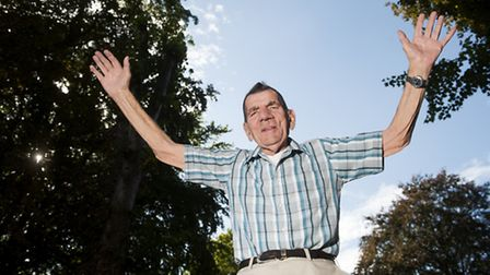 91 year old Philip Goldsmith is getting ready for his charity sky dive.PHOTO: Nick Butcher