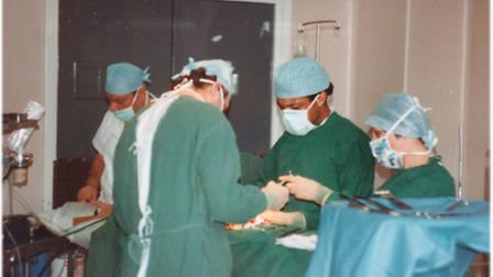 Picture of: Supplied by Hugh Sturzaker of the last operation at Gt Yarmouth General Hospital, before