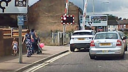 Grab of video posted on Facebook on by Paul Whitlow on Victoria Road in Lowestoft. Picture Facebook/