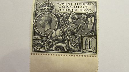 The 1929 PUC stamp which sold for £220