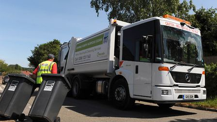 Kier at work collecting rubbish in north Norfolk
