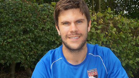 Harleston Town manager Adam Gusterson will be attempting to mastermind a Norfolk Senior Cup upset wh