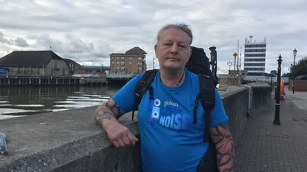 Adrian Rumsby, who is taking part in the China Trek 2017