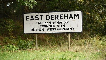 The East Dereham sign next to the A47. Picture: Ian Burt