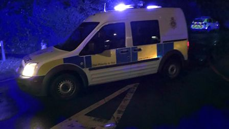 Police at the scene of the tragedy in Holt. Picture: ALLY McGILVRAY