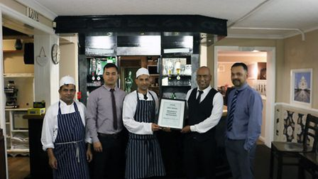 Asghar was a joint winner in the Brandon's Favourite Restaurant competition, run by town website bra