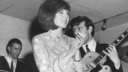 Cilla Black perfoming at the Olympia, Cromer, backed by Sounds Incorporated on April 12 1964.