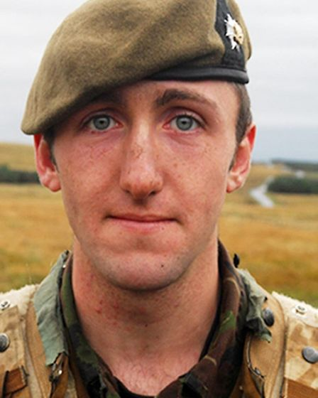 Private James Grigg of the 1st Battalion The Royal Anglian Regiment, who was killed in an explosion