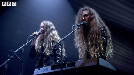 Norwich band Let's Eat Grandma performing on BBC Two show Later... with Jools Holland. Photo: BBC