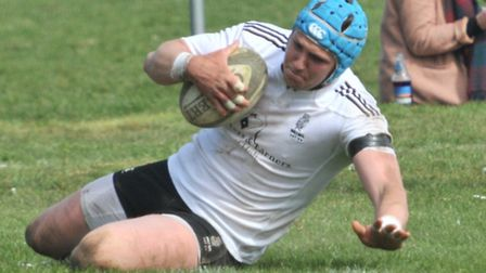Hal Riley scored Holt's first try at Rochford Hundred. Picture: Stuart Young