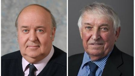 Left: Michael Chenery of Horsbrugh, Norfolk County councillor. Right: Councillor Mick Peake from Kin