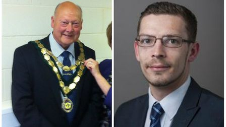 Left: Swaffham mayor Paul Darby. Right: Councillor Graham Middleton of King's Lynn and West Norfolk