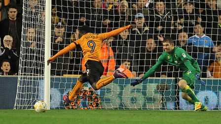 Michael McGovern pullled off a fine stop to deny Wolves Nouha Dicko in Norwich City's 2-1 Championsh