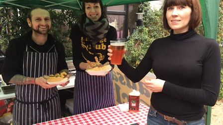 John and Kelly Iverson with Jess Wythe at the Diss & Harleston Food & Drink Festival. Picture: ARCHA