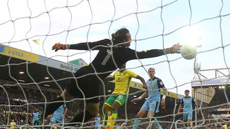 Cameron Jerome makes it 2-0 to Norwich City. Picture: Paul Chesterton/Focus Images