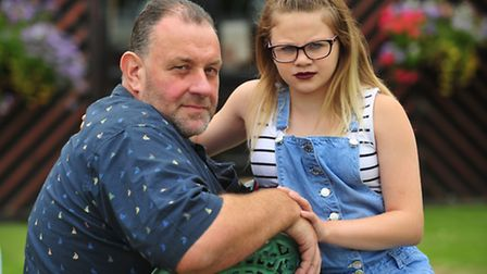 Paul Southey with his granddaughter Demi-May Southey. The family have fought for compensation and ap