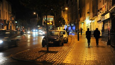 Jeremy Kyle visited Prince of Wales Road at night. Picture: Denise Bradley