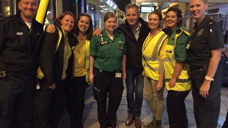 Jeremy Kyle was filming a documentary in Norwich. Picture Twitter/ChrisFloyd