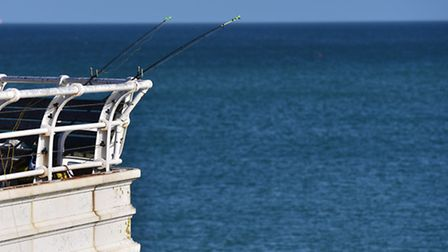 Fishing has been banned from a section of Cromer Pier close to the lifeboat station. Photo: NICK BUT