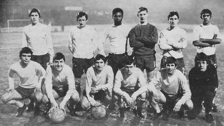 Steve Buttle (top row, second left) in Ipswich's youth team. Picture: EADT