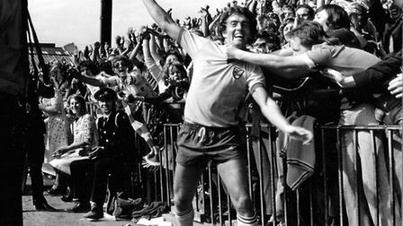 Ted MacDougall scored a hat-trick for Norwich City against Aston Villa in August 1975. Picture: Arch
