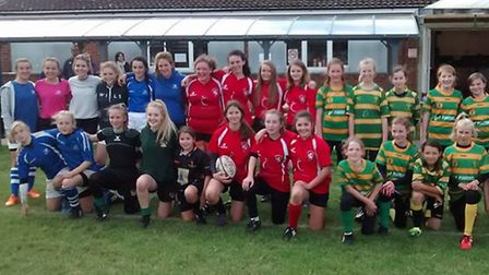 Crusaders Rugby Clubs first pitch-up-and-play girls rugby event proved successful.