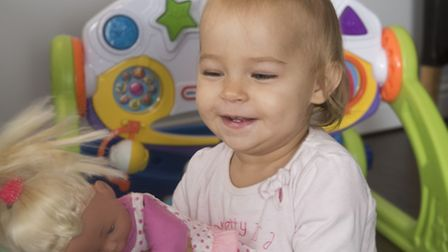 Victoria Komada (15 months) needs £300,000 for surgery in the USA to correct problems with her legs.