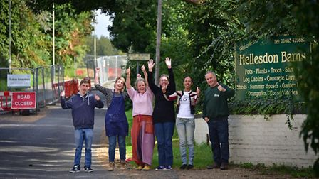 Staff and shop owners at Hellesdon Barns are happy that the road they're on is re-opening soon. Left