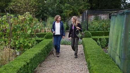 Carlyn Kilpatrick, right, in her walled garden at Kettlestone, where she has started up The Nurture