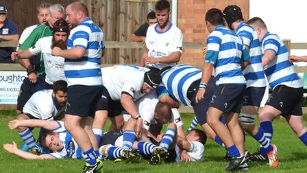Action from L&Y's 88-0 home loss to Wansted. Picture: mick Howes