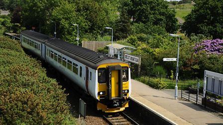 A train on the Bittern Line. Picture: MARK BULLIMORE