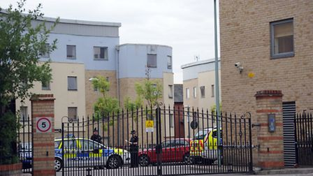 Police at Forum Court in Bury St Edmunds