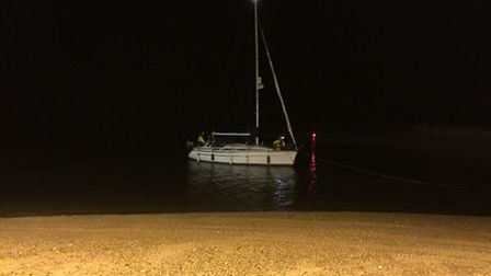 The Yacht, Summer Wind, had to be towed in by Wells RNLI lifeboat last night after it suffered engin