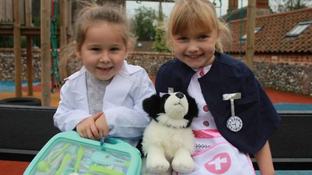 Five-year-old Bonnie, who dreams of becoming a vet and Bonnie, 6, who wants to be a nurse. Picture: