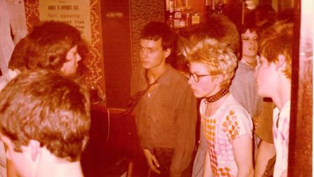 Comedian Charlie Higson (centre) was lead singer in one of Norwich's first punk bands the Right Hand