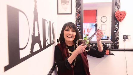 Dereham business Rouge Et Noir is celebrating its 10th anniversary. Pictured is owner Jane Rice-Smit