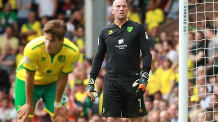 John Ruddy has been second choice to Michael McGovern recently.
