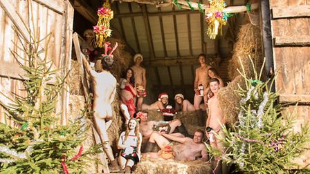 North Walsham Young Farmers pose for their Christmas calendar shoot. Picture: ELLIOTT SIMPSON