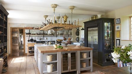 Inside the kitchen at Hales Hall. Picture: Chris Horwood.