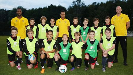 Norwich City footballers at Costessey Sports