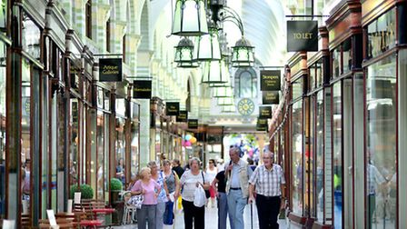 Shopping in Royal Arcade, Norwich.Picture: ANTONY KELLY