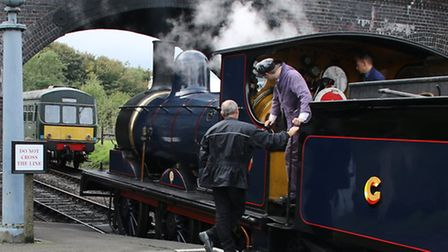 The North Norfolk Railway operates heritage steam and diesel services between Sheringham and Holt. P