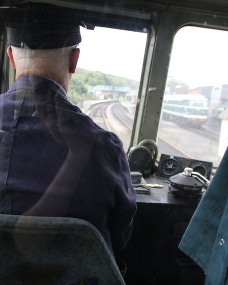 A driver's eye view of the North Norfolk Railway. Picture: ALLY McGILVRAY
