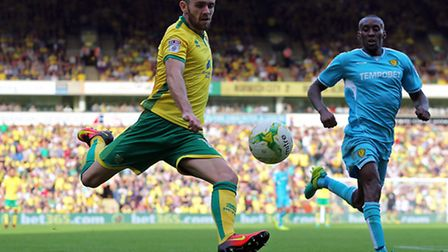 Robbie Brady could return from concussion for Norwich at Fulham tonight. Picture: Paul Chesterton/Fo