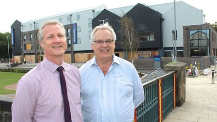 Alan Prime, director of Farrans Construction (left) and David Winch, director of The Land Group stan