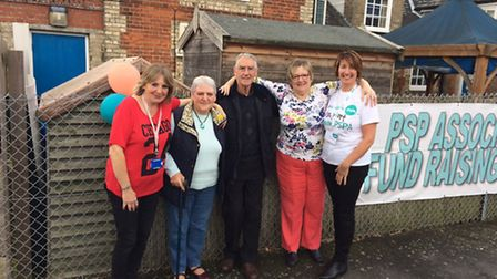 L-RCatherine Dunning, Ann Dunning, Anthony Dunning, Linda Iaccarino and Linda Moore outside the PSP